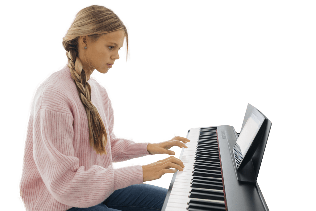 young-girl-playing-keyboard-instrument